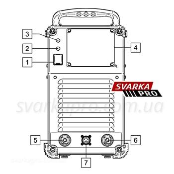 Схема элементов управления  Speedtec 405SP