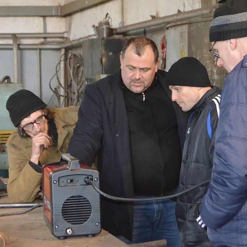Иван Никитенко на презетации сварочного оборудования