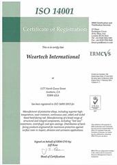 Сертификат ISO 14100 Lincoln Electric